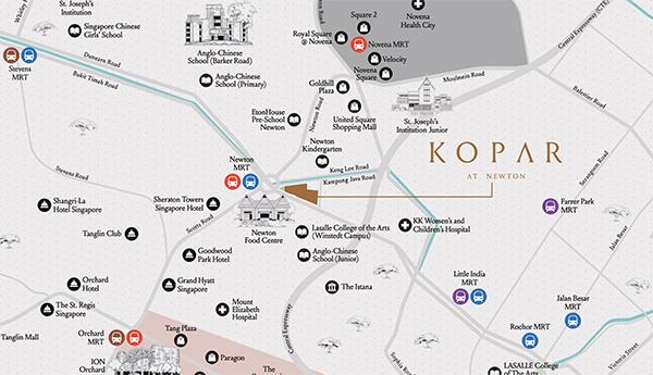 Kopar at Newton Location Map Thumbnail
